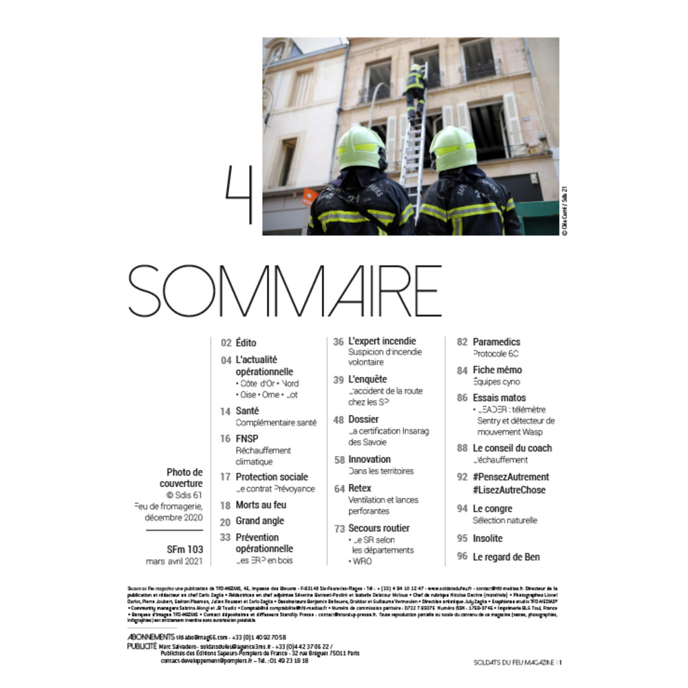 Soldats du Feu Magazine N°103